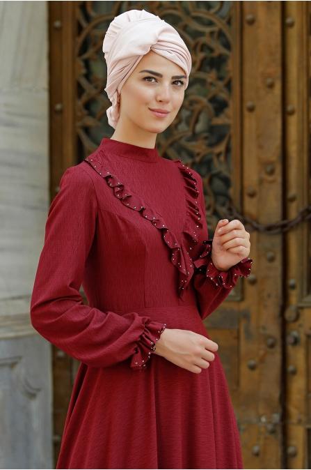 Rüya Elbise - Bordo - Nurkombin