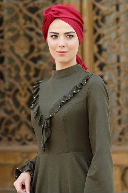 Rüya Elbise - Haki - Nurkombin