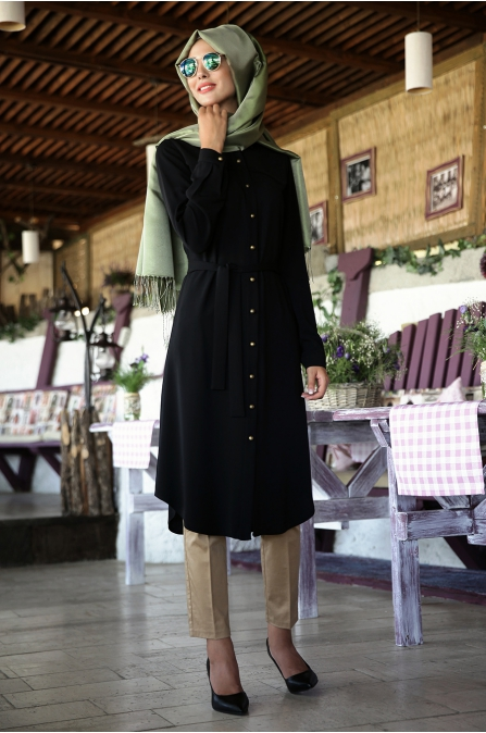 Nurkombin - Robalı Tunik - Siyah