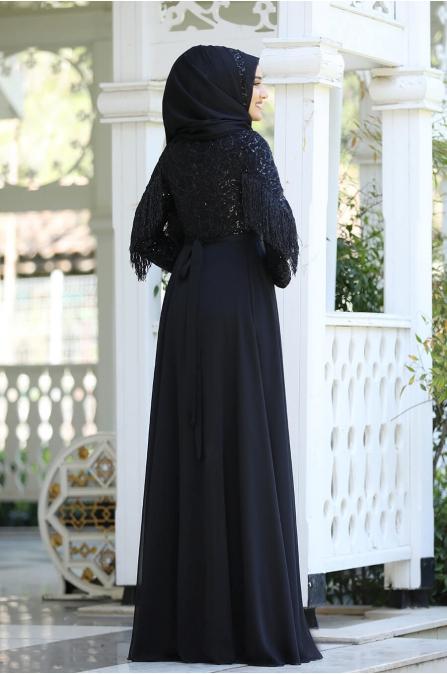 Açelya Abiye - Siyah - Piennar