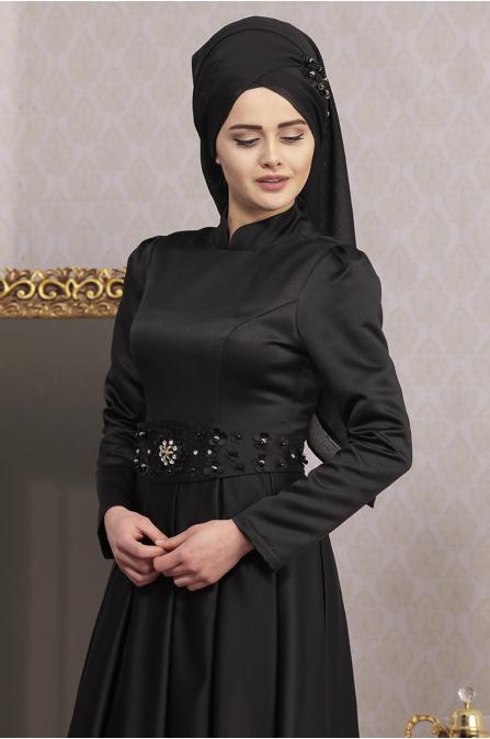 Piennar - Açelya Abiye - Siyah