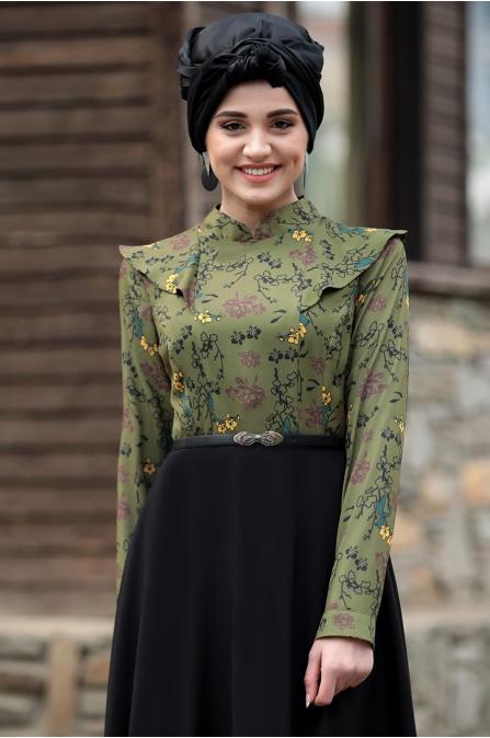 Adelya Elbise - Yeşil - Piennar