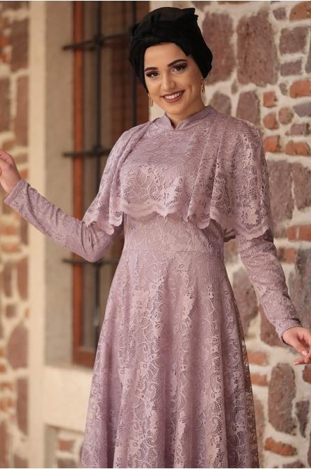 Piennar - Adevya Elbise - Gül Kurusu