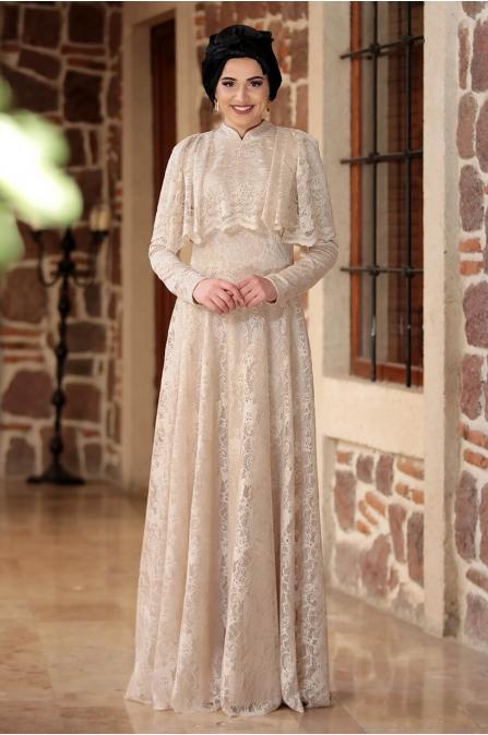 Piennar - Adevya Elbise - Krem