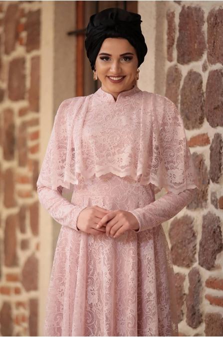 Piennar - Adevya Elbise - Pudra