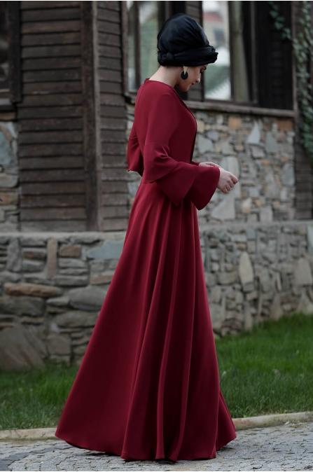 Asya Elbise - Bordo - Piennar