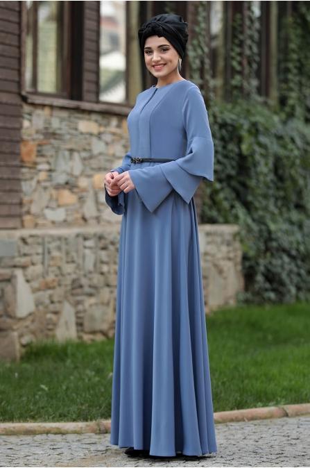 Asya Elbise - İndigo  - Piennar