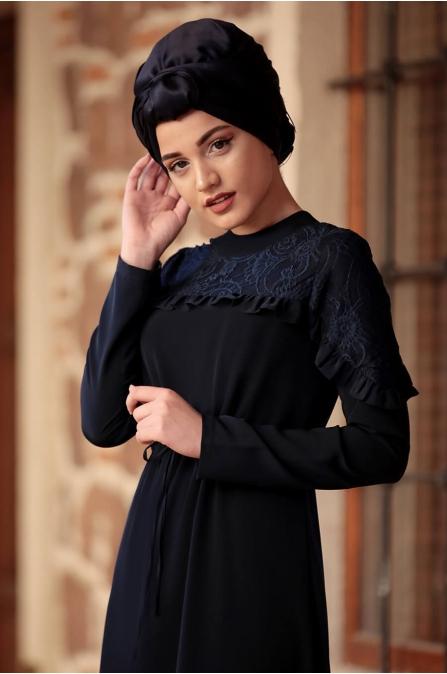 Derin Elbise - Lacivert - Piennar