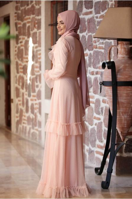 Rana Dantel Elbise - Somon - Piennar