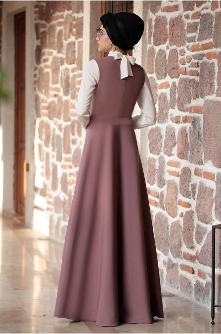 Sıla Salopet Elbise Gül Kurusu - Piennar
