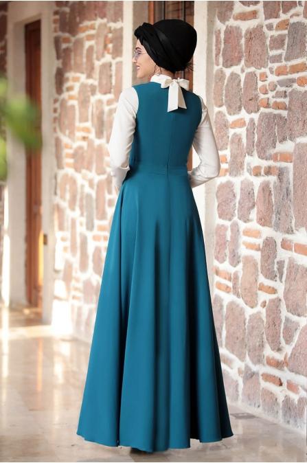 Sıla Salopet Elbise İndigo - Piennar