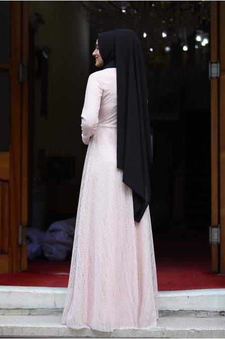 Dilşah Elbise - Pudra  - Piennar