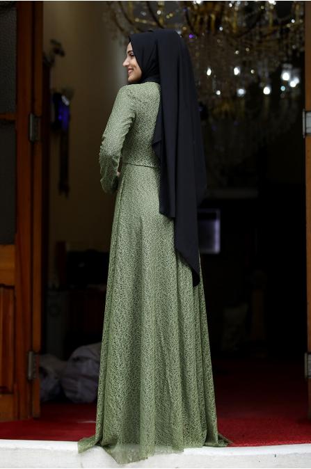 Dilşah Elbise - Yeşil - Piennar