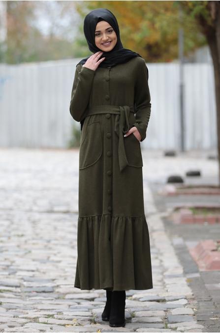 Carmel Elbise - Haki - Piennar
