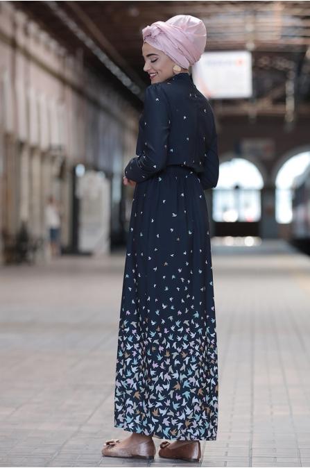 Piennar - Kardelen Elbise - Lacivert
