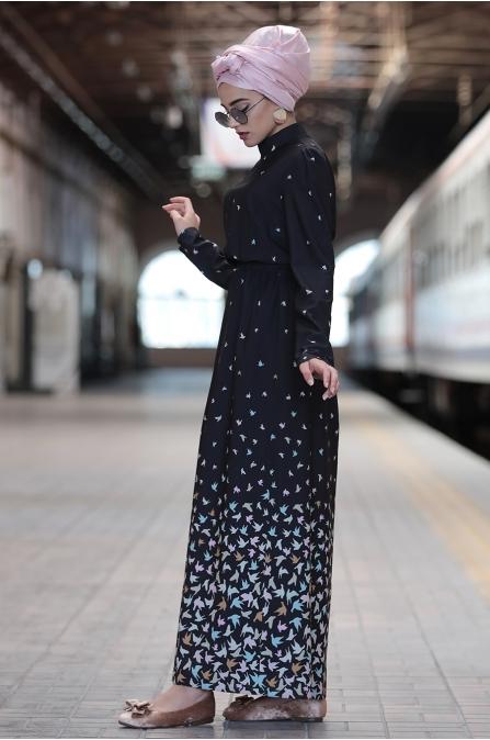 Piennar - Kardelen Elbise - Siyah