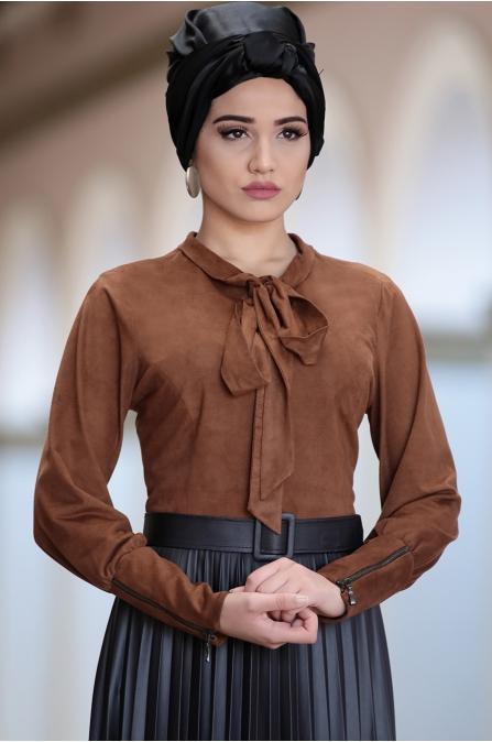 Piennar - Piliseli Simay Elbise - Taba