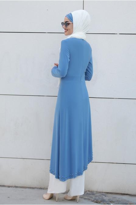 Simay İncili Takım - Mavi - Piennar