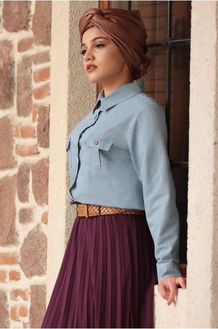 Piennar - Eliz Kot Takım Elbise - Mürdüm