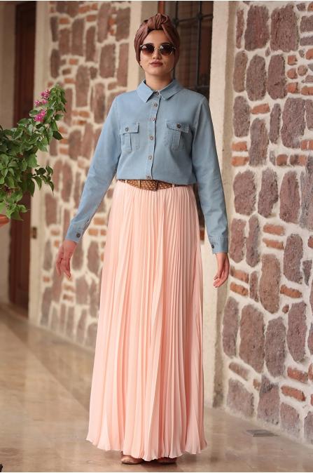 Piennar - Eliz Kot Takım Elbise -  Pudra