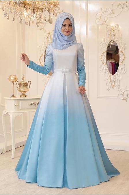 Ebruli Abiye - Mavi - Pınar Şems