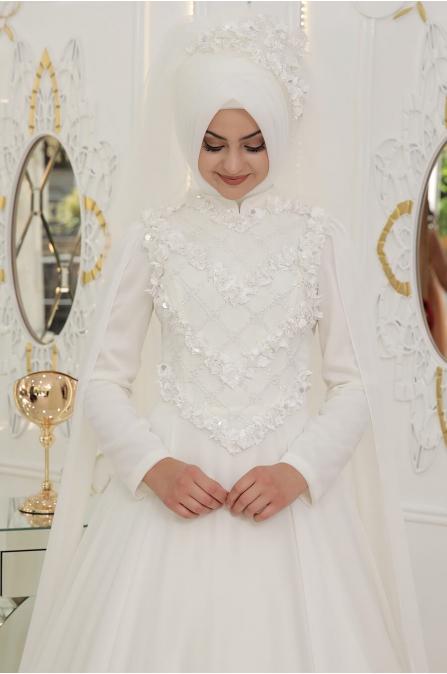 Gelincik Abiye - Ekru - Pınar Şems