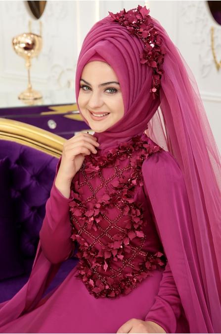 Gelincik Abiye - Fuşya - Pınar Şems