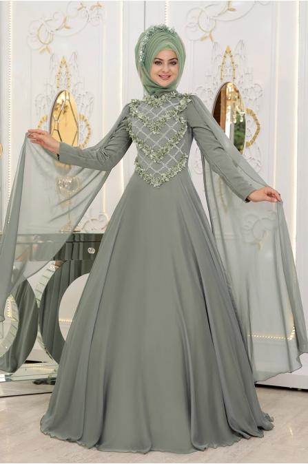 Gelincik Abiye - Yeşil - Pınar Şems