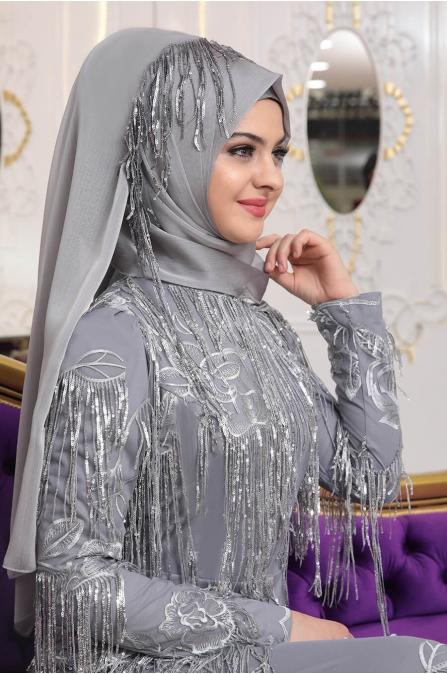 Gülistan Abiye - Gri - Pınar Şems