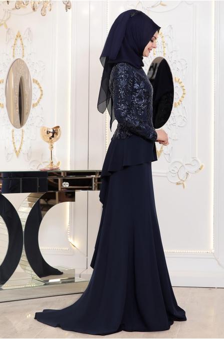 Pınar Şems - Hatun Abiye - Lacivert