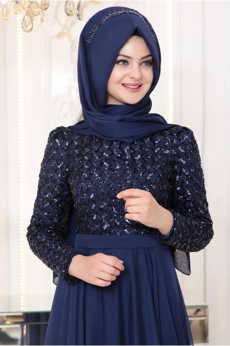 Petek Abiye - Lacivert - Pınar Şems