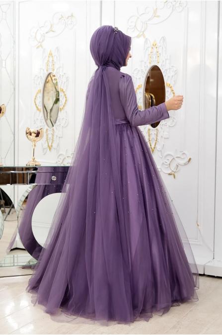 Prenses Abiye - Leylak - Pınar Şems