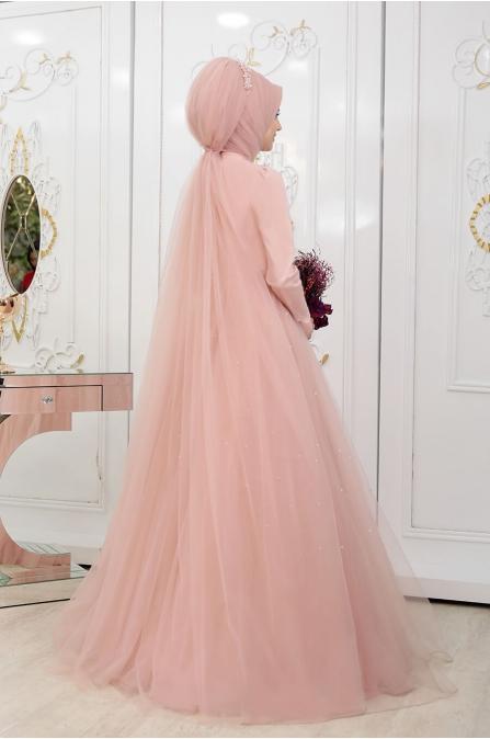 Prenses Abiye - Pudra - Pınar Şems