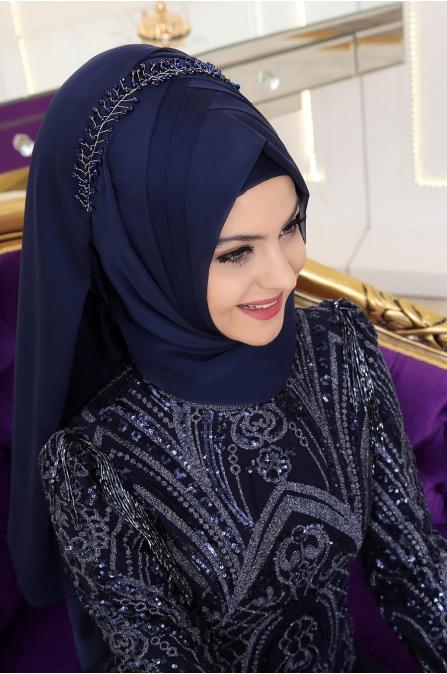 Rengin Abiye - Lacivert - Pınar Şems