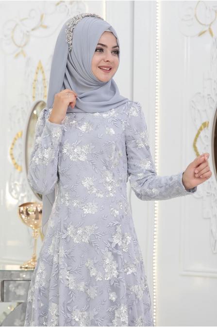 Zişan Abiye - Gri - Pınar Şems
