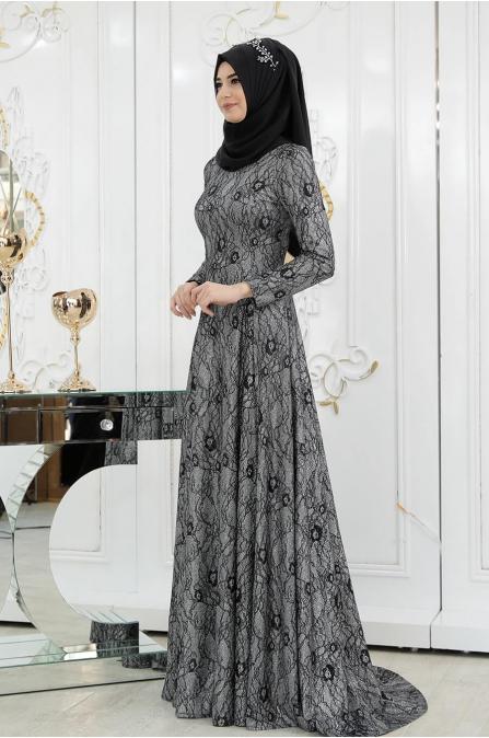 Elmas Abiye - Siyah - Pınar Şems