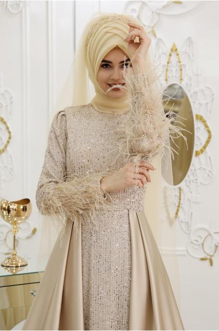 İpek Abiye - Gold - Pınar Şems