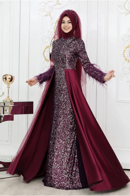 İpek Abiye - Mürdüm - Pınar Şems