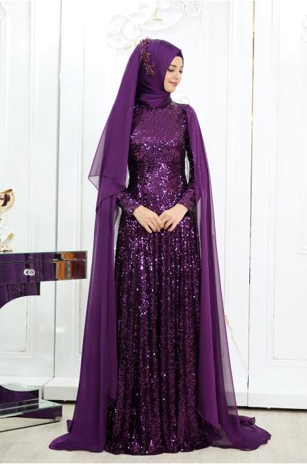 Yeni Hüma Abiye - Mürdüm - Pınar Şems
