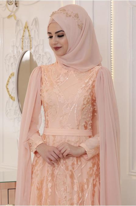 Pınar Şems - Yaprak Abiye - Somon