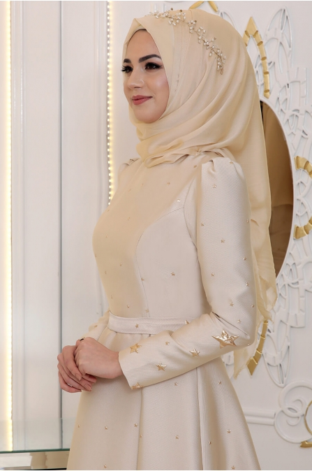 Pınar Şems - Yıldız Abiye - Gold