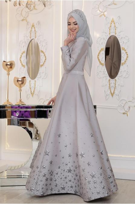 Pınar Şems - Yıldız Abiye - Gri