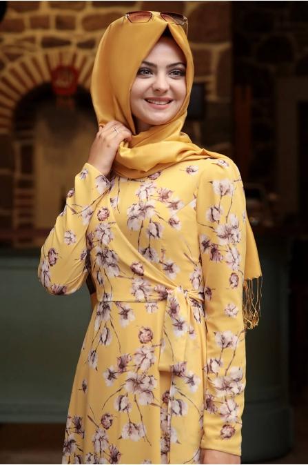 Bahar Elbise - Sarı - Pınar Şems
