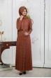 Dantelli Piliseli Elbise - Taba - Pınar Şems