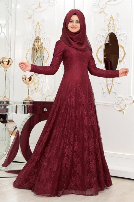 Duru Elbise - Bordo - Pınar Şems