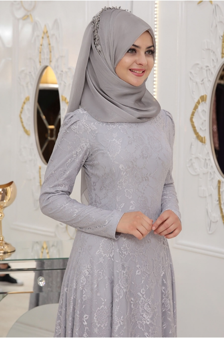 Duru Elbise - Gri - Pınar Şems