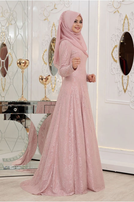 Duru Elbise - Pudra - Pınar Şems