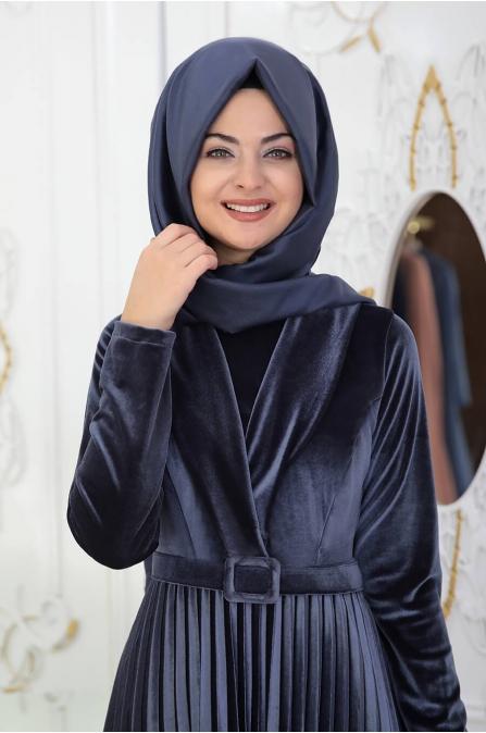 Gökçe Elbise - İndigo - Pınar Şems