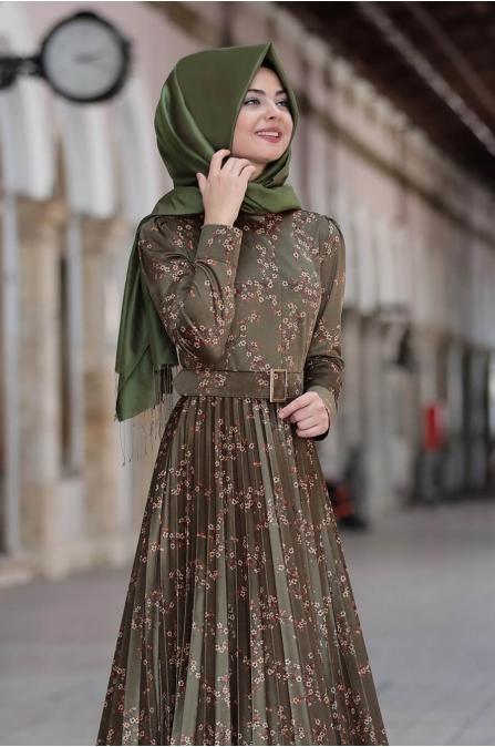 Henna Elbise - Haki - Pınar Şems