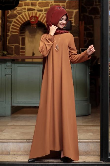 Kolyeli Elbise - Taba - Pınar Şems